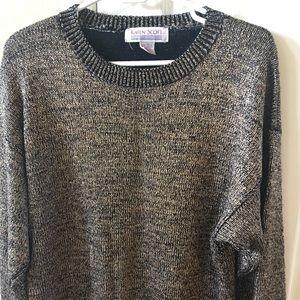 Karen Scott Sweaters - Karen Scott Gold foil sweater